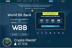 World Bit Bank - WBB ICO REVIEW | The world's first LEGAL cryptocurrency BANK